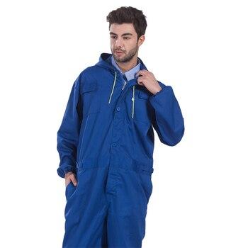 Рабочая одежда мужской комбинезон ремонтник Комбинезоны для женщин мотобрюки Рабочая Униформа спецодежды Комбинезоны Плюс размеры