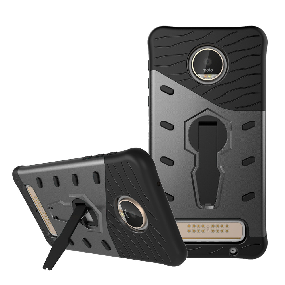 360 Bracket Shock Proof with stand Phone Case For Motorola MOTO Z Play XT1635 Case Cover For Motorola Moto Z Play Back Cover