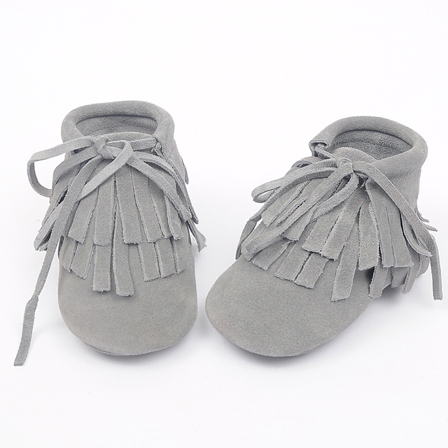 Wholesale New Genuine Leather suede Baby soft Shoes Toddler Baby Moccasins double Tassel Lace-up baby girls boots 100 pairs/lot