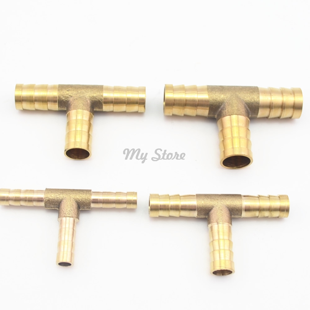1Pc 6-12mm BRASS T Hose Joiner Piece 3 WAY Fuel Water Air Pipe TEE CONNECTOR