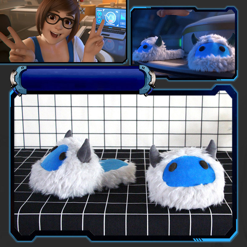 2017 Kawaii Mei Warm Slippers For Casual Life CG Rise and Shine Snow Monster Design Slippers Meiling Zhou Mei Shoes For Cosplay