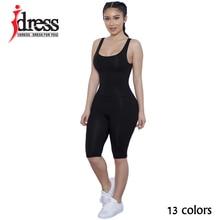 IDress Plus Size S XL 2016 Summer Cotton Backless Combinaison Femme Jumpsuit Sleeveless Women Rompers Elegant