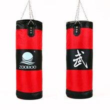Zooboo 70-100 см тренировочный фитнес-боец MMA боксерский мешок крючок висячий Мешок Спортивный песочный Пробивной мешок с песком Saco Boxeo