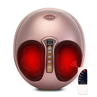 Antistress Electric Foot Massager Shiatsu Relaxation Masseur Device Kneading Heating Massager for the feet Air Pressure Machine