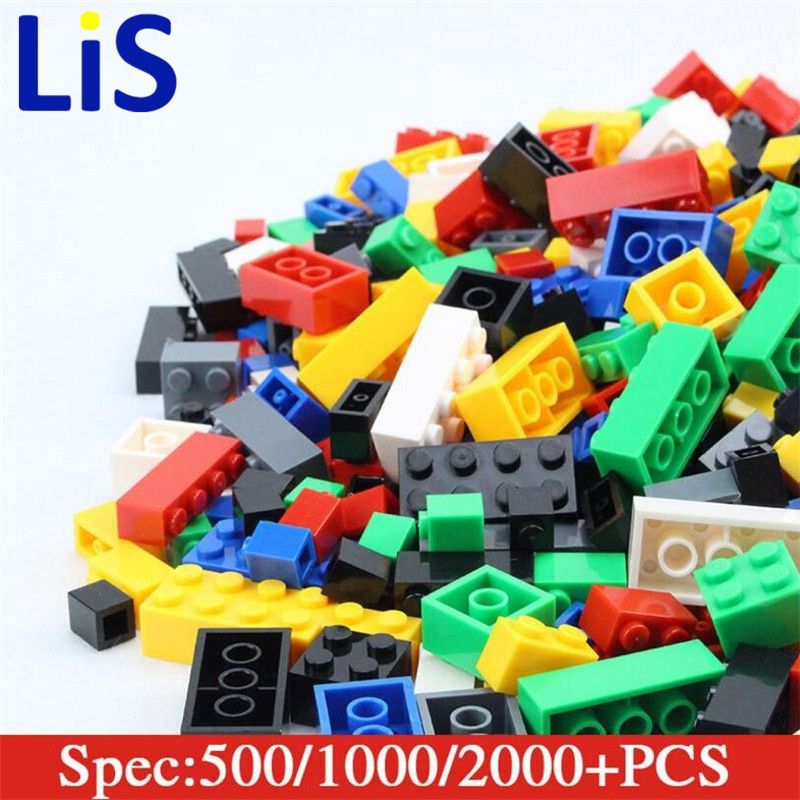 (Lis)1000pcs model Building kits Bricks City DIY Creative Brick Toys Educational Bulk Bricks Compatible kid gift set new lepin 16008 cinderella princess castle city model building block kid educational toys for children gift compatible 71040