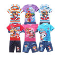 2017 summer boys clothes; girls clothes set; shorts + short sleeve T shirt kids clothes; sport suit; children clothing for girls