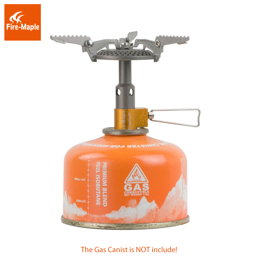 Fire Maple FMS-116T Outdoor Mini Camping Stoves Gas Burners For Backpacking 48g 2820W Portable Lightweight Titanium Gas Stove free shipping fire maple fms 300t ultralight gas stove portable folderable titanium alloy camping gas stove 45g 2600w