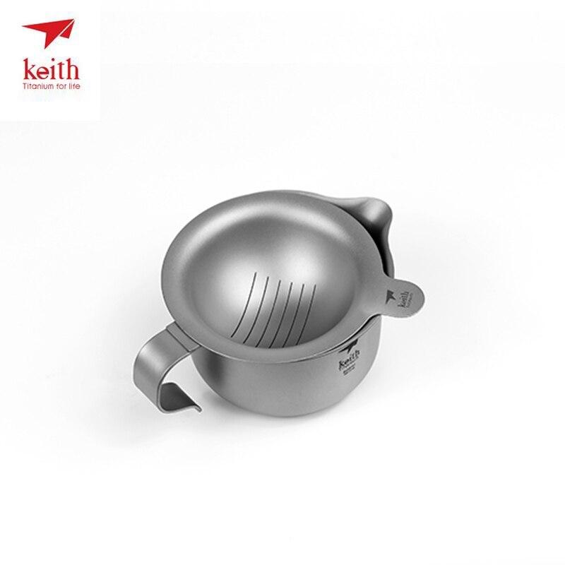 Keith Titanium résistant à la chaleur Double paroi thé tasses cuisson thé bouilloire pour café eau en plein air Camping Drinkware outils Ti3930 - 3