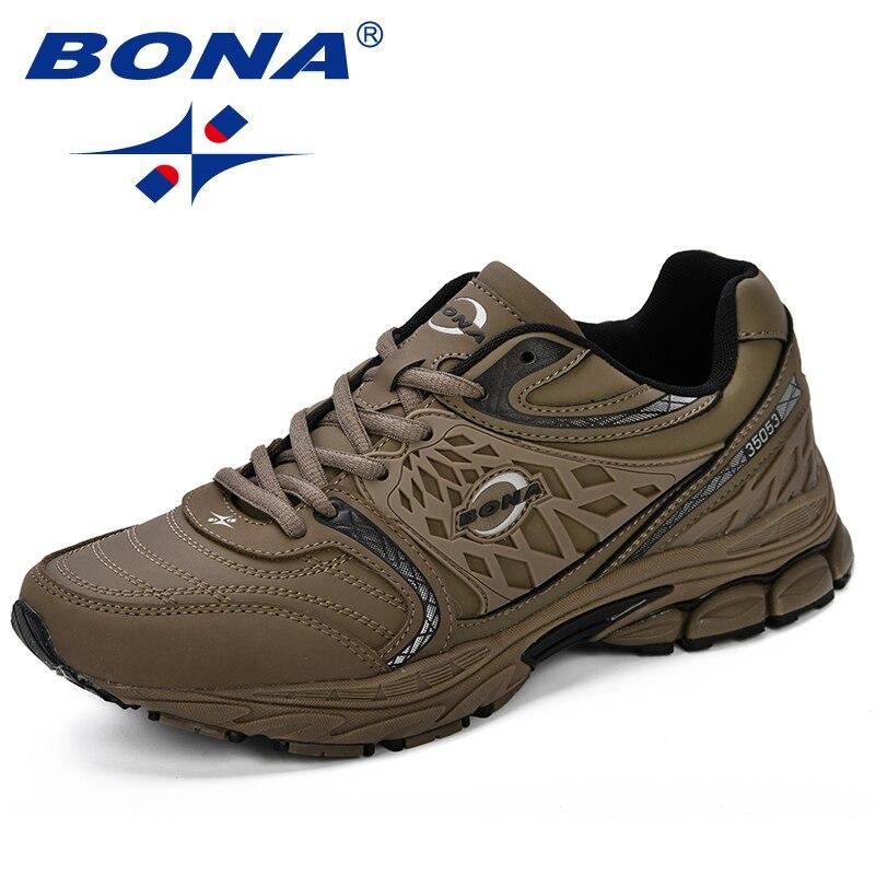 BONA новый стиль мужские кроссовки 2018 удобные роскошные мужские туфли дышащие модные удобные уличные кроссовки мужская обувь