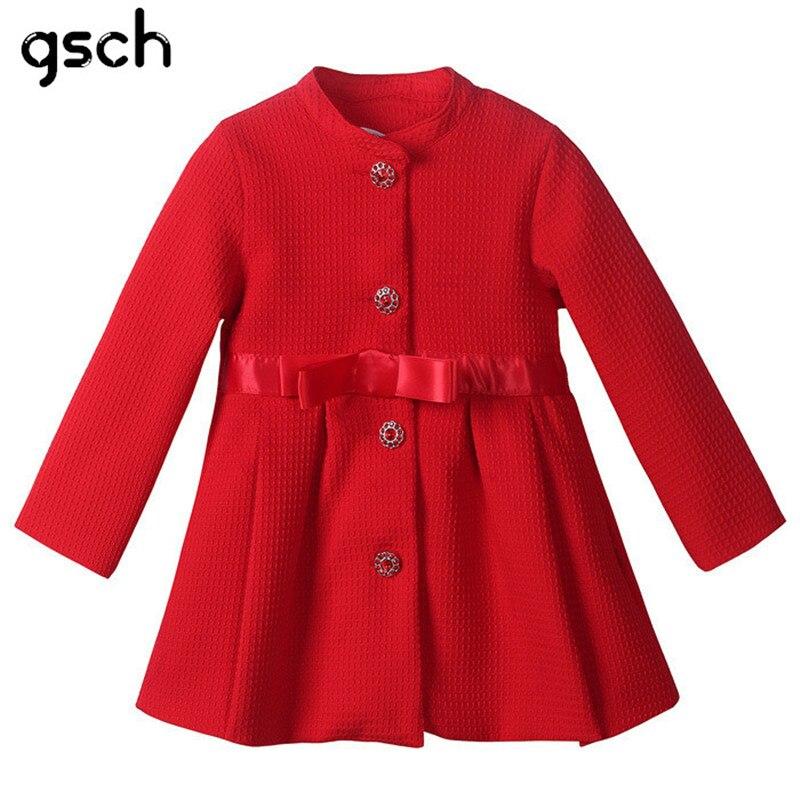 a9f4a7de8e100 Mode Rouge D. mode Rouge D hiver Fille Manteau Col Mandarin Enfants  Outerwwear Princesse Pardessus Long Costume ...