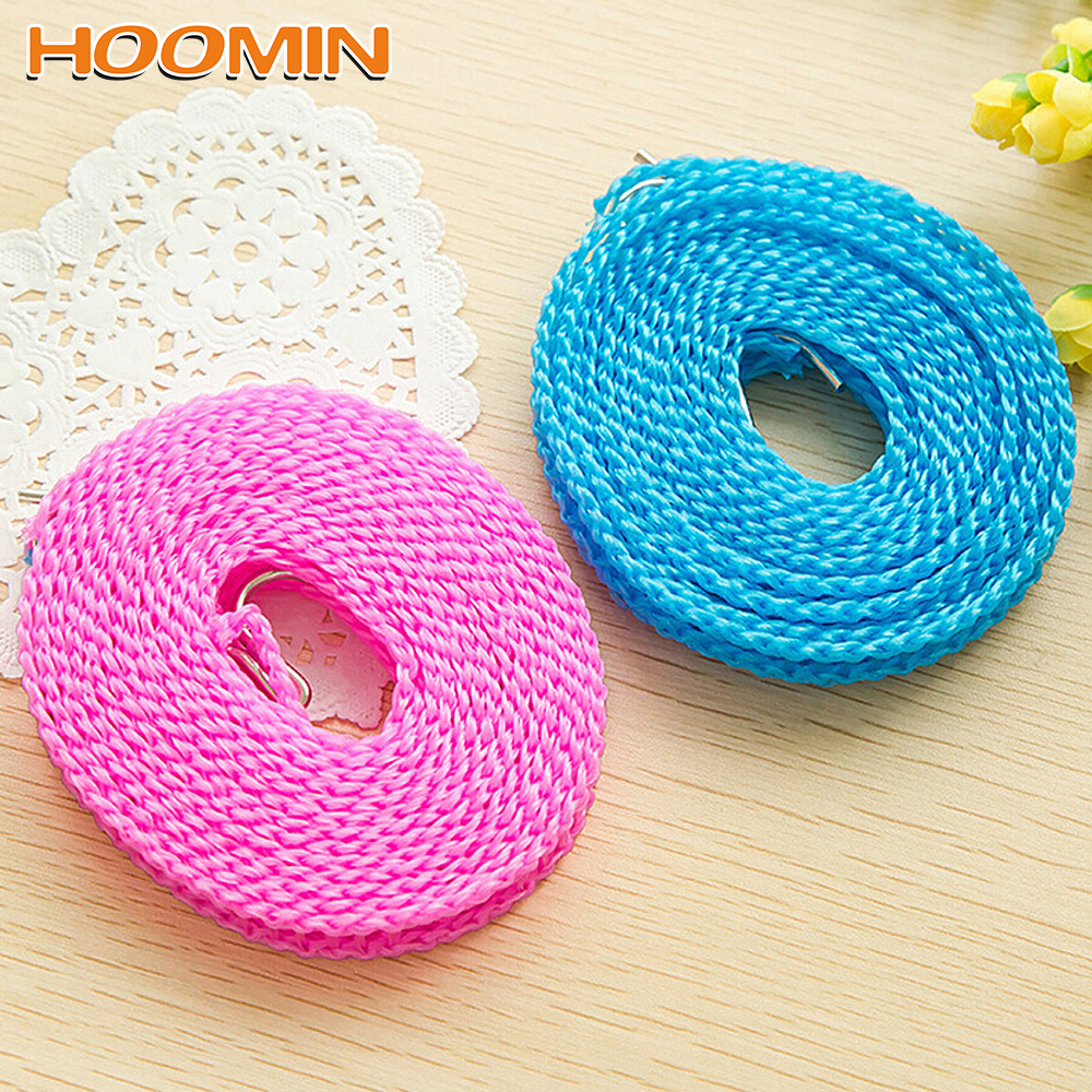 Appearanice Non-Slip Drying Clothes Hanger Rope Nylon Clothesline with Metal Hook