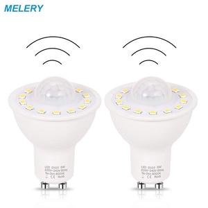 GU10 PIR Motion Sensor LED Light Bulbs 5W 50W Equivalent 500lm Day White 6000K for Stairs Garage Corridor Walkway Hallway-2Pack(China)