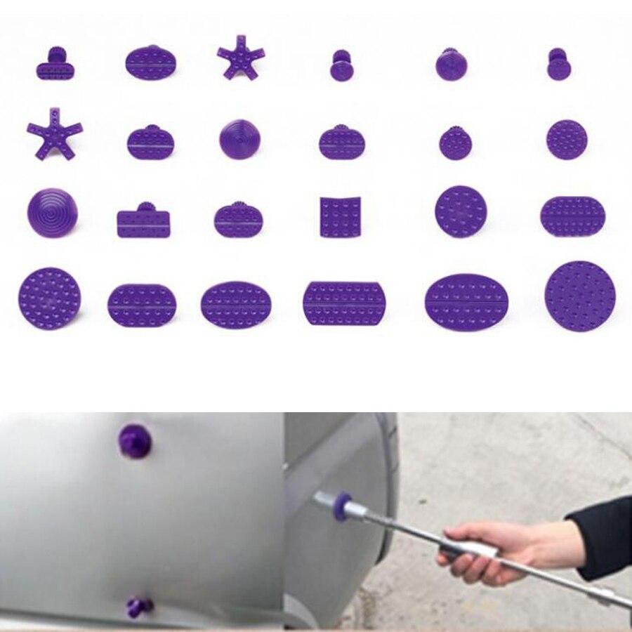 YAQUICKA 24 шт. автомобиля клей Puller вкладки для автоматического тела град Paintless PDR дент ремонт инструмент для BMW BENZ AUDI FORD VOLKSWAGEN и т. д.