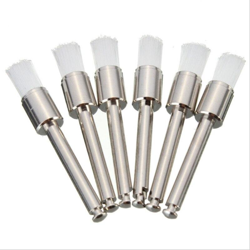 50PCs Polishing Polisher Prophy Brush White Nylon Lat Type Dental Lab Product For Dentist