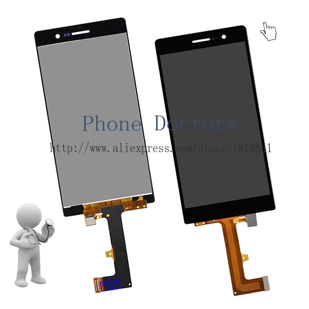 imágenes para 5.0 ''full lcd display + touch screen asamblea del digitizador para huawei ascend p7 p7-l00 sophia p7-l05 p7-l10; negro; nueva