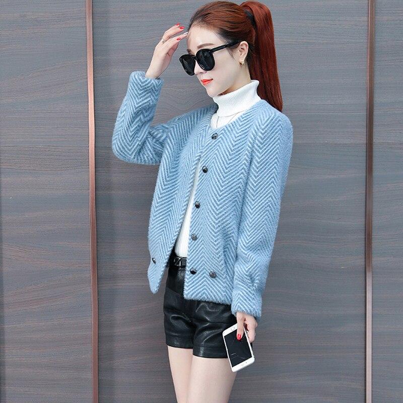 D'hiver Mode Sauvage Manteau Cardigan 2019 Chaude Automne Veste Velours Lq071 Short Et En blue New Pink apricot Gold Épais Femmes khaki De vm08nNw