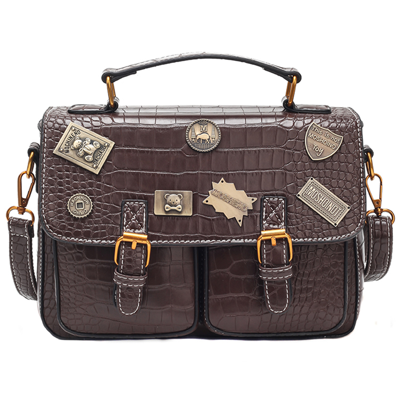 6 Christmas Gift Steampunk British Women Bags  Steam Punk Retro Handbags Lady Shoulder Bag Working Briefcase Pure Color