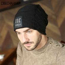 ZJBECHAHMU Hats Spring Casual Solid Wool Skullies Beanies Hat For Men Winter Hats For Men Women Warm Baggy Soft Brand Cap Newest