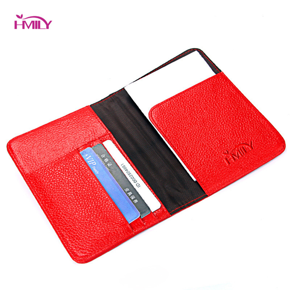 HMILY Genuine Cow Leather Passport Wallet Small High Quality ...