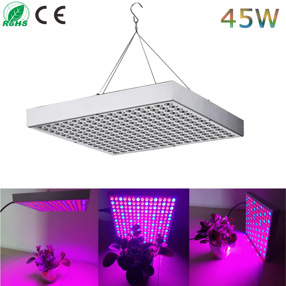 Full Spectrum 45W 225LEDs SMD2835 LED Grow Lights LED Horticulture Grow Light for Garden Flowering Plant and Hydroponics System led grow light lamp for plants agriculture aquarium garden horticulture and hydroponics grow bloom 120w 85 265v high power