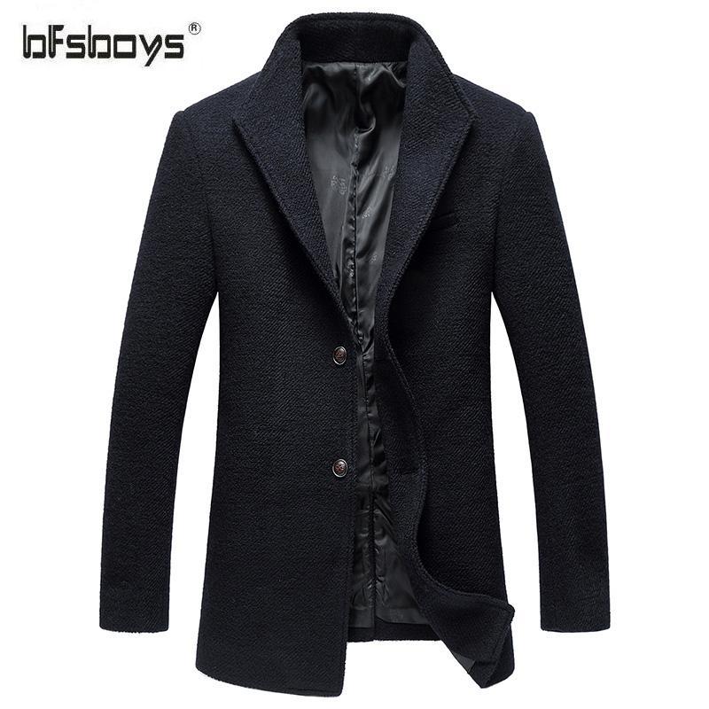 Online Shop BFSBOYS brand Men's casual Short Wool & Blend jacket ...