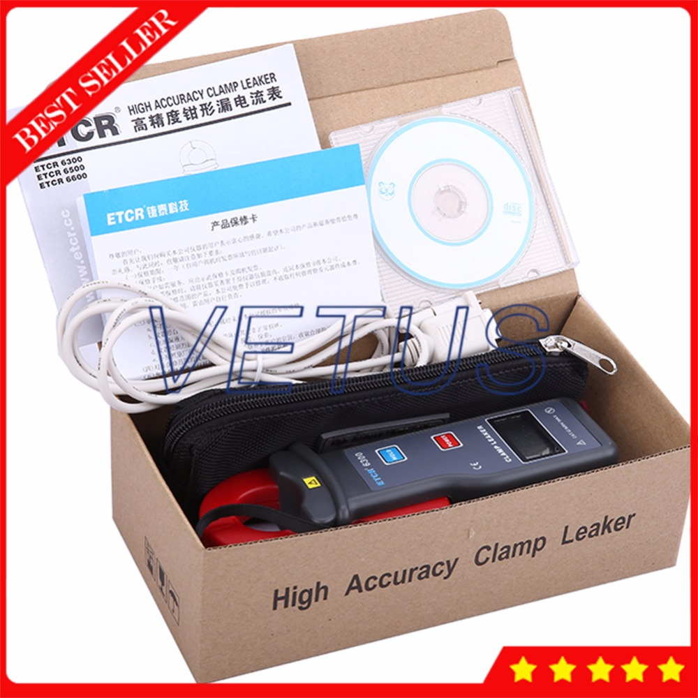 цена ETCR6300 High Accuracy AC Leakage Current Measurement with 0-60A Digital Clamp Meter RS232 Interface