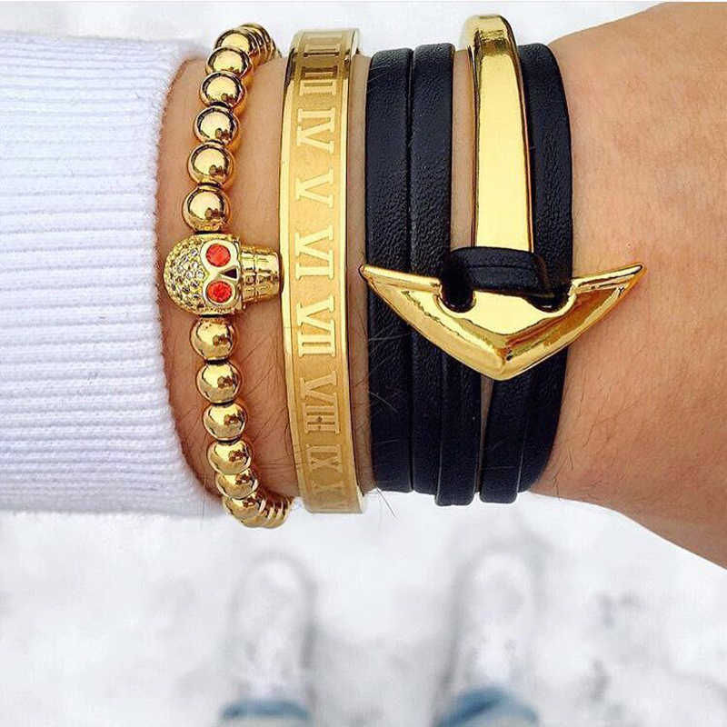 Mcllroy gold bangles women men/love/opening cuff stainless steel bracelets bangles fashion jewelry pulsera hombre Men jewelry