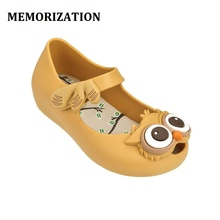 2017 summer season New type Owl Girls Jelly Sandals Shoes Children Princess Sandals Cartoon Savory Kids anti skid Shoes Mini Melissa