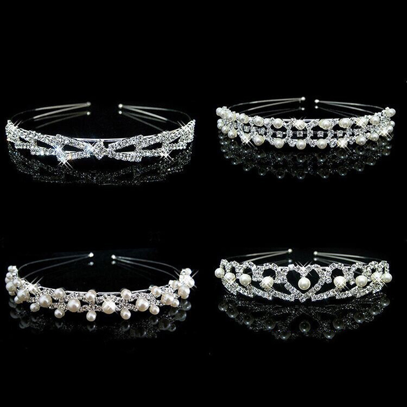Hot Sale Hair Extension Accessories Fashion Crown Pearl Crystal