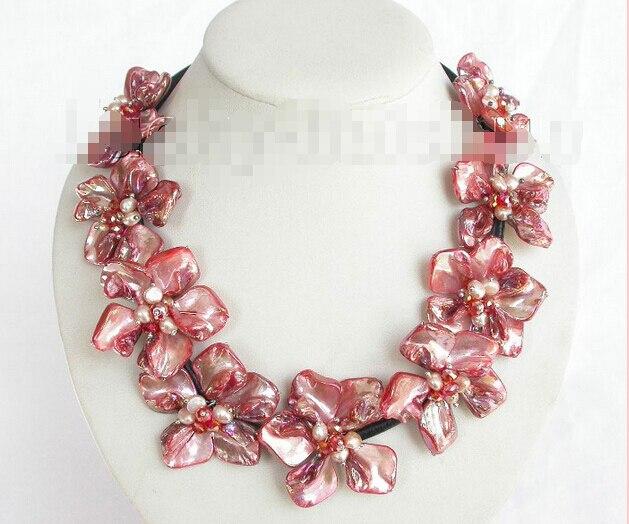 ᑐEnvío libre> barroco handcraft floración rojo perlas Seashell ...