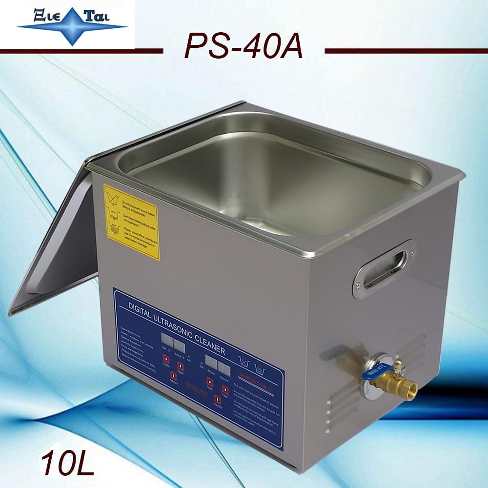 Local free shipping EU RU AU AC110/220 Ultrasonic cleaner 10L PS-40A digital timer & heater  hardware parts