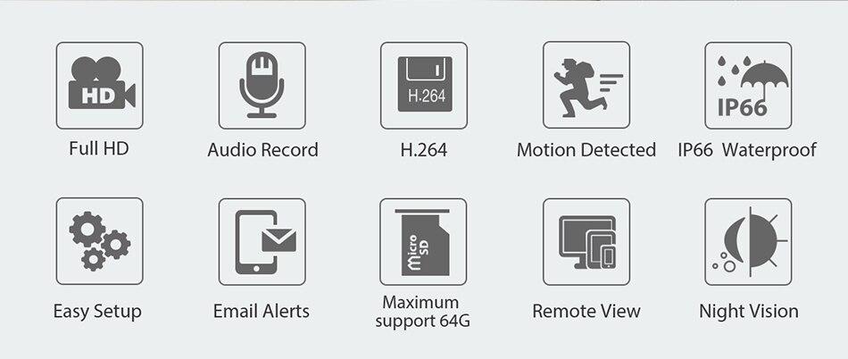 HTB1PLsUQMHqK1RjSZFEq6AGMXXaF 1080P 2MP Wireless IP Camera IR Night Vision Audio Record P2P Onvif Video Security Wifi Camera Outdoor CCTV Surveillance TF Card