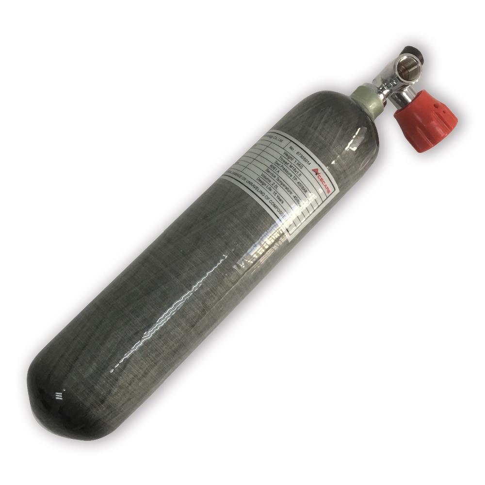 AC10211 сжатого Пневматические винтовки 2L CE 300bar 4500psi Подводное углеродное волокно цилиндр Пейнтбол Бак цилиндр высокого давления Acecare