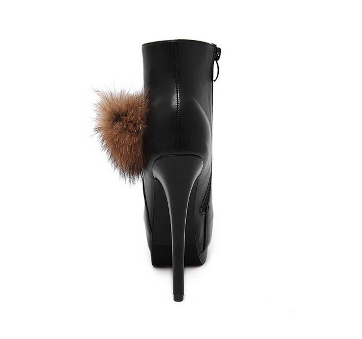 Fashion rabbit fur ultra high heels shoes women winter boots sexy ankle  boots white wedding shoes size 34 to 39-in Ankle Boots from Shoes on  Aliexpress.com ...