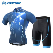 XINTOWN Verano Ropa Ciclismo Hombre Maillot Set Cycling Jersey 2017 Pro Team Sports Clothing Bicycle Outdoors FahrradbeKleidung