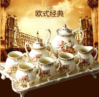 FREE SHIPPING LUXURY EUROPE MILK POT CERAMIC COFFEE POTS 8PCS PORCELAIN BONE CHINA COFFEE POTS SET GIFT ITEM A 1 *