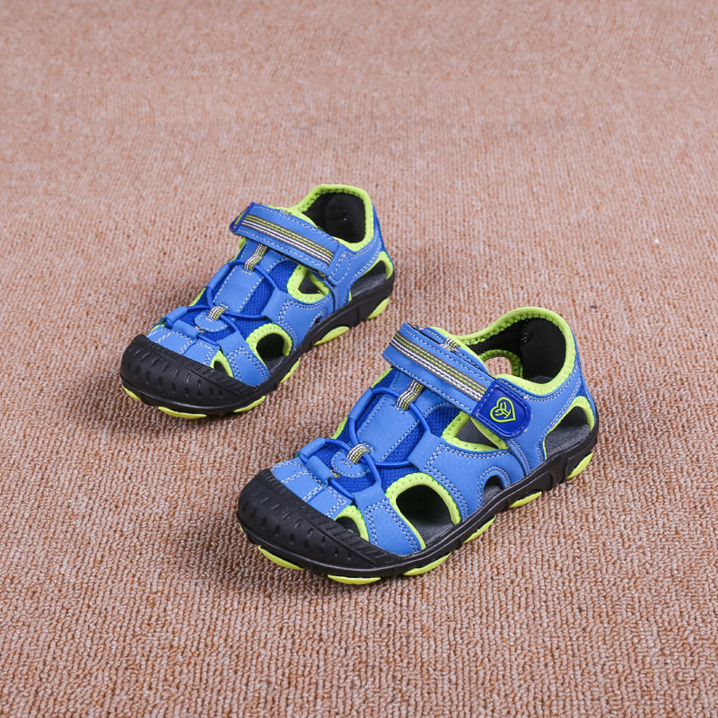 Summer Boys Sandals Close Toe High Quality Beach sandal For Kids Comfort Fashion Sandals Childrens Casual Blue Shoes