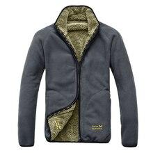 Сгущать теплое зимнее флис ветрозащитный туризм кемпинг куртка бренд пальто мужские
