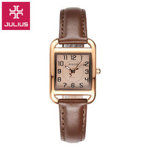 2017 Juilius Watch Kids Watch Women Watch Men Watch Couple Casual Fashion Simple Waterproof Leather clock