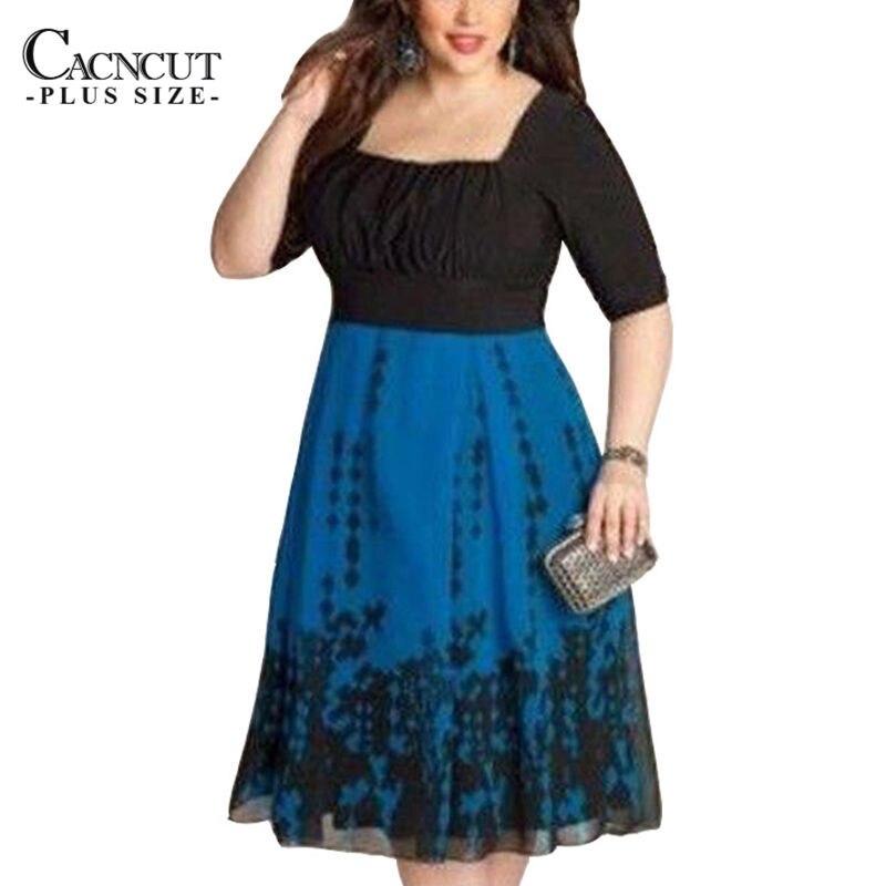 1af0cba7f 2018 Otoño Invierno elegante 6XL más tamaño mujeres Vestido Mujer sexy  impresión Floral Partido de citas vestido grande del tamaño de la ropa ...