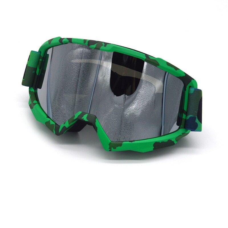 Армейском стиле мотоциклетные мотокросса Серебряные очки сноуборд Gafas MOTO, для спорта на открытом воздухе