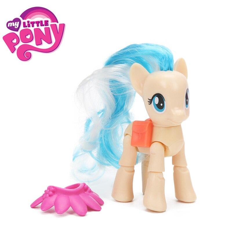 Mon petit poney jouets Cutie marque magique Miss pommeau arc-en-ciel tableau de bord crépuscule étincelle PVC figurines poney Collection modèle poupée jouet