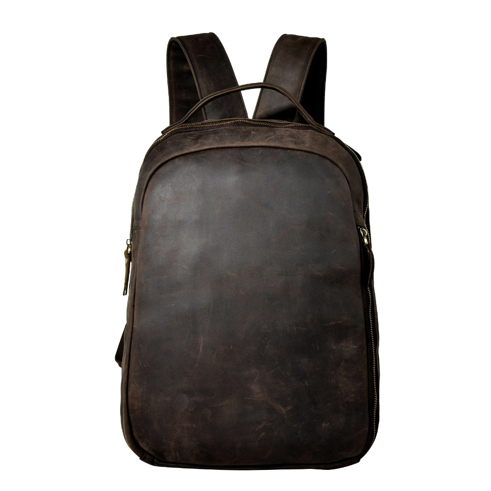New Design Female Male Leather Casual Fashion Large Capacity Travel University School Student Bag Backpack Daypack