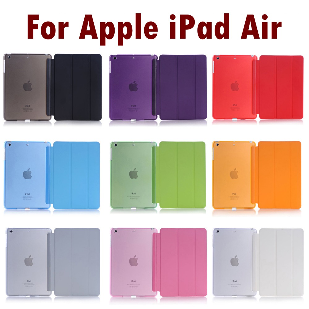 For Apple iPad Air Sleeping Wakup Ultral Slim Leather Smart Cover Case For iPad 5 / Air 1