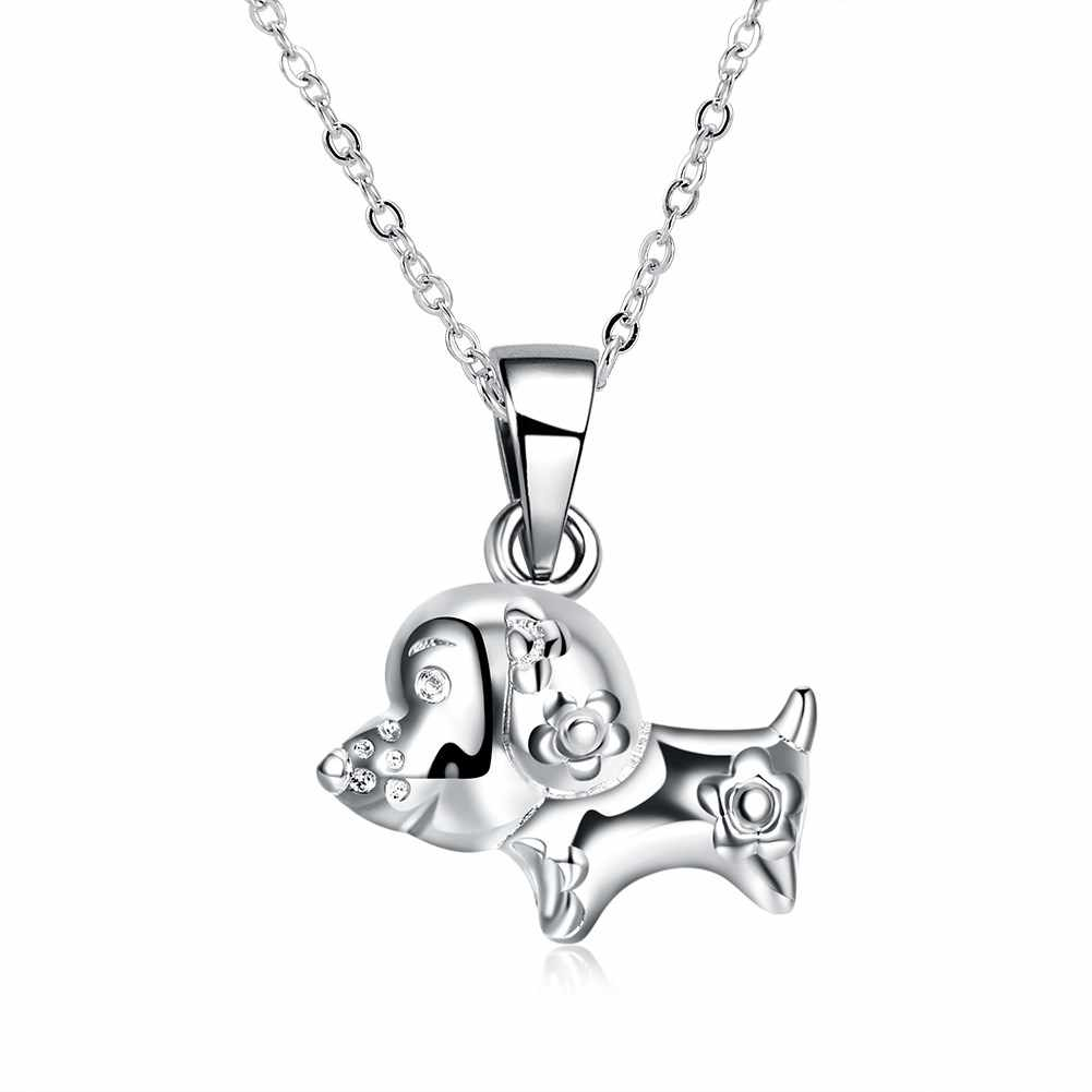 Bride Necklace Fashion Jewelry Silver Plated Pendant Necklace For Women Hight Quality cute animal Jewellery Supplier