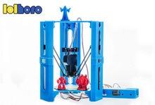 101 герой Новейшая Высокая точность 3D печати Модернизированный мини стол коссель Delta 3D металл принтер DIY Kit нити DV версии Бесплатная