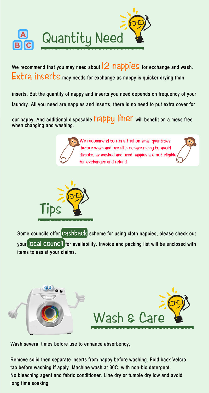 [Littles& Bloomz] Детские Моющиеся Многоразовые Тканевые карманные подгузники, выберите A1/B1/C1 из фото, только подгузники/подгузники(без вставки