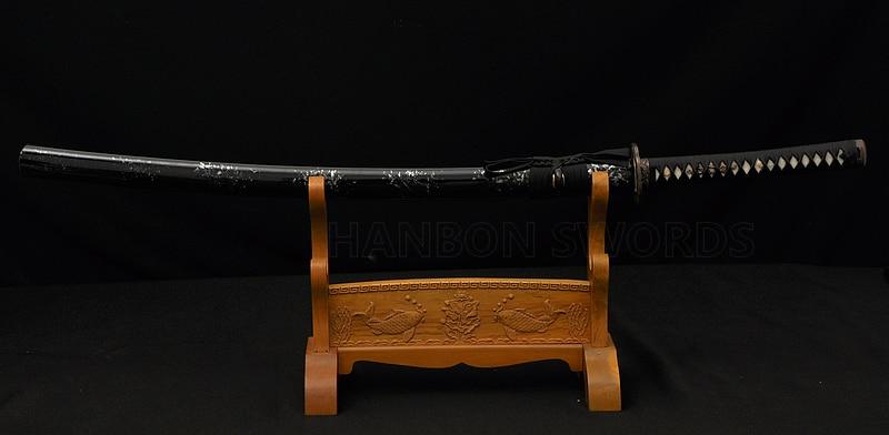 Tamamilə əl işlənmiş Samuray Yapon Qılınc Dragon Katana 1060 - Ev dekoru - Fotoqrafiya 6