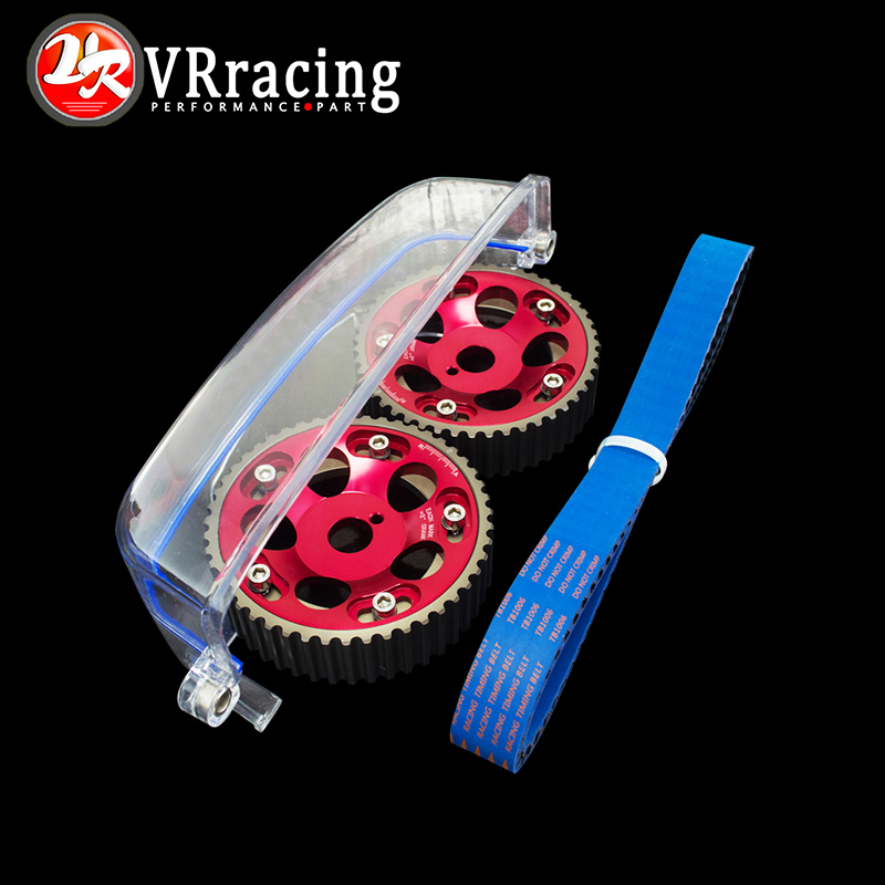VR- HNBR Racing Timing Belt+Aluminum Cam Gear+Cam Cover FOR 2JZ-GE and 2JZ-GTE Supra, GS300,IS300 VR-TB1006B+6531R+6332 цены