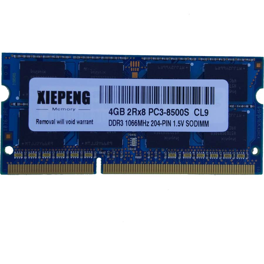 Notebook Memory For MacBook MC516 MC207 MB467 Laptop 4GB 2Rx8 PC3-8500S DDR3 8G 1066 MHz 4gb Pc3 8500 RAM